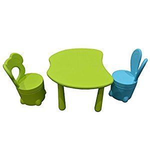 Toytexx Children's Kids Solid Table and 2 Chairs Set
