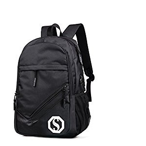Travel Laptop School Backpack Unisex Large Capacity Fashion USB Charging Port Bag