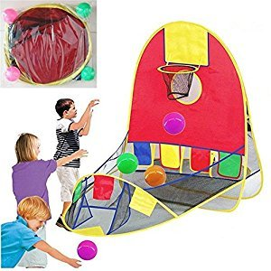 Ball Scoring Tent Children Play Tent Game house dollhouse Basketball Basket Tent Beach Lawn Tent Ball Pool Indoor&Outdoor Sport Best Kid Toys (Color: Multicolor)