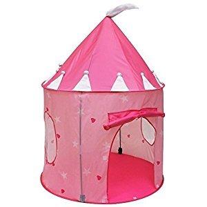PowerLead Children Play Tents Fairy Tale Castle Indoor Outdoor Children Play House--Pink Color