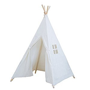RONGFA Children Teepee Indian Play Tent, 145cm, White