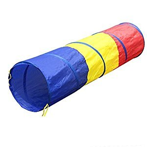 SODIAL(R) Children tricolor tunnel toy tent