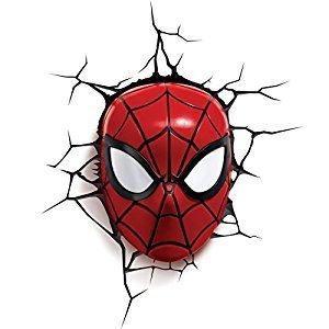 Marvel Spider Man Mask 3d Wall Light