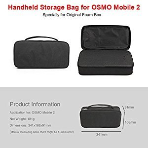 Amyove Storage Bag Portable Carrying Case Storage Bag for DJI OSMO Mobile 2 Compatible with Original Foam Box Best Gift for Kids