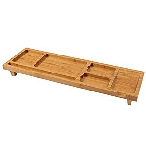 Rack Shelves Bamboo Desktop Small Objects Storage Shelves Multi-purpose Storage Rack ( Color : A )