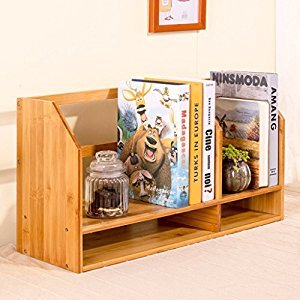 Rack Shelves Simple Shelves Bamboo Storage Boxes Office Desktop Small Shelves Dresser Shelf ( Color : C )