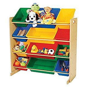 Tot Tutors Primary 12 Bin Toy Organizer 76712