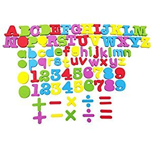 82 PCS Magnetic Learning Letters Numbers,VicPow Educational Toddlers Toys for Preschool Learning,Spelling,Counting