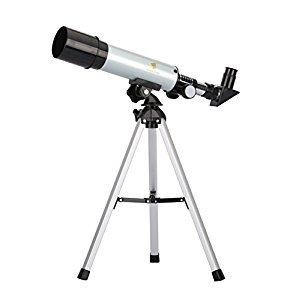 GEERTOP 90X Portable Astronomical Refractor Telescope, 360X50mm, For Kids Sky Star Gazing and Birds Watching