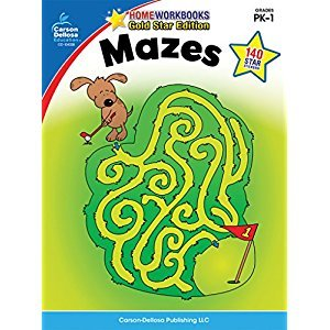 Mazes, Grades PK - 1: Gold Star Edition