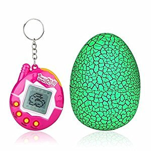 Dinosaur Egg Virtual Pets on a Keychain Digital Pet Electronic Game (green)