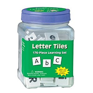 Paper Magic 867410 Eureka Tub Of Letter Tiles, 176 Tiles in 3 3/4-Inch x 5 1/2-Inch x 3 3/4-Inch Tub