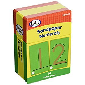 Didax Educational Resources 210828 Sandpaper Numerals