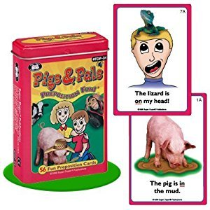 Pigs & Pals Preposition Fun Deck Cards - Super Duper Educational Learning Toy for Kids