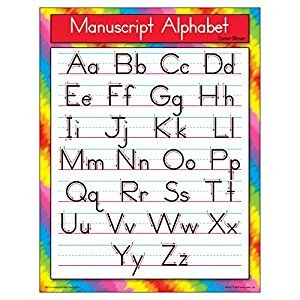Trend Enterprises Manuscript Alphabet Zaner-Bloser Learning Chart (T-38134)