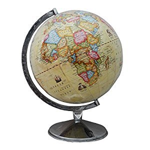 Big Rotating Desktop Ocean Globe World Earth Geography Table Décor Globes 16.3