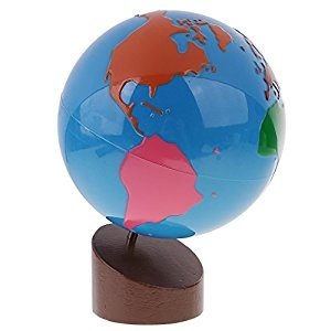 MagiDeal Montessori Geography Material - Globe of World Parts for Kids Early Learning Toys Gift
