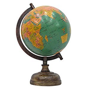 Rotating Globe World Geography Earth Big Decorative Ocean Office Table Decor