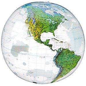 Small World Toys Nature - Inflatable Topographical Globe, 16