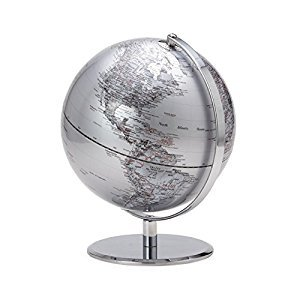 Torre & Tagus 901749C Latitude World Globe, Silver