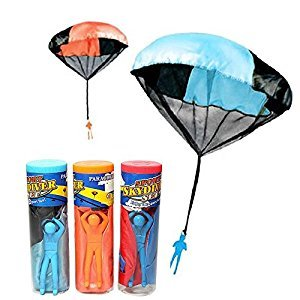 Elisona-Children Babies Kids Outdoor Sports Hand Throwing Mini Parachute Educational Toy Random Color Quantity 1
