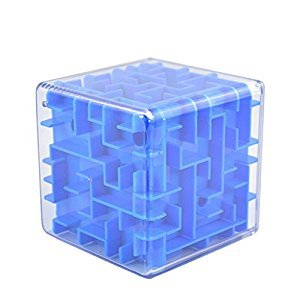 NERLMIAY Maze Ball Cube Perfect Gift Puzzle Box for Boys Girls Children kids (blue)