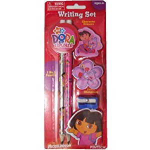 Dora the Explorer Pencil Set (Pencils, Erasers, Sharpener)