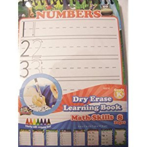Dry Erase Learning Board ~ Math Skills