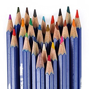 Liberty BL-24 24 Pack Watersoluble Water Soluble Ink Pencils - Set of 24 Colors