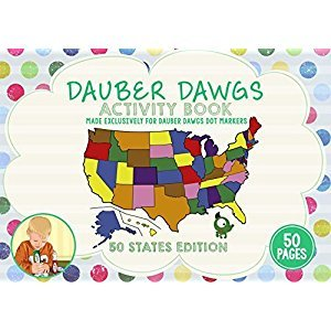 50 STATES OF AMERICA EDITION Dot Marker Activity Sheets 50 PAGES Made EXCLUSIVELY for Dauber Dawgs Dot Markers / Bingo Daubers with Free PDF Book Download