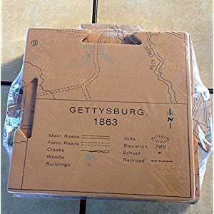 Civil War Gettysburg Battlefield Map Interlocking Mat Daily Battle Lines - By Americana