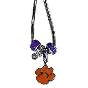 Clemson Tigers Euro Bead Necklace by Siskiyou
