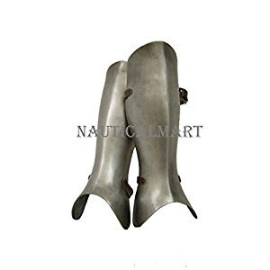 Larp Armour Standard Greaves legs By Nauticalmart by NAUTICALMART