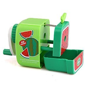 OPEEK Watermolon Pencil Sharpener Hand Crank Manual Desktop School Stationery Kids