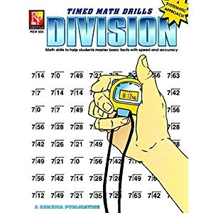 Remedia Publications REM504 Division Timed Math Drills Book, 0.1