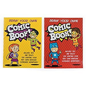 Comic Book Superhero Journals - Classroom School Supplies - 12 per Pack - From Fun365