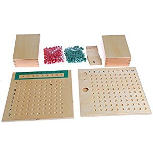 Kofun Montessori Mathematics Material Multiplication Bead Board Educational Toys Kid
