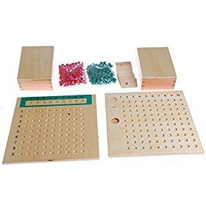 Kofun Montessori Mathematics Material Multiplication Bead Board Educational Toys Kid