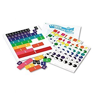 Learning Resources Products - Learning Resources - Rainbow Fraction Tiles w/Plastic Tray, Math Manipulatives, For Grades 2-6 - Sold As 1 Set - Set of 51 color-coded, proportional tiles. - Represents wholes, halves, thirds, fourths, fifths, sixths, eighths,