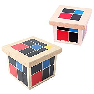 MonkeyJack Wooden Montessori Mathematics Material - Trinomial and Binomial Cube
