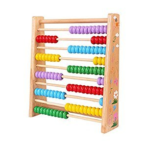 Montessori Educational Wooden Abacus 100 Beads Baby Toy Early Childhood Preschool Training Counting Number Frame Maths Aid ,For 1 to 10 Years Old Todllers