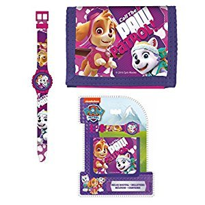 Original Paw Patrol,Chase,Marshall&Rubble Digital Watch+Wallet,Official Licensed,Children Gift Set .