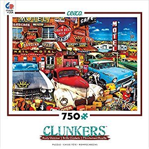 Old Cars And Used Guitars Clunkers Rusty Shimmer 750 Piece Puzzle
