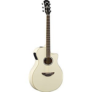 Yamaha APX600 VW Thin Body Acoustic-Electric Guitar, Vintage White
