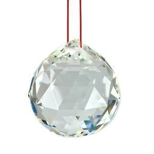 IndianStore4All Clear Crystal Hanging Faceted Ball Prism 20mm 12 Piece