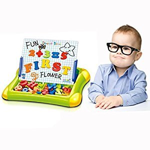 Cisixin Alphabet Letters and Numbers Drawing Writing Board Doodle Sketch for Kids above 3 Years Old