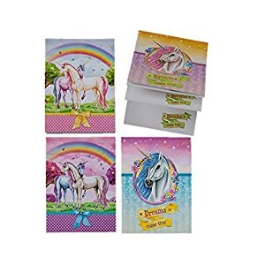 Girls Unicorn Notebooks A7 Notepads Party Loot Bags Cute Small 10 Pack