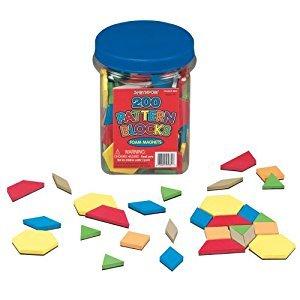 Lauri Foam Magnets-Pattern Blocks