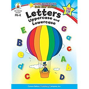Letters: Uppercase and Lowercase, Grades PK - K: Gold Star Edition