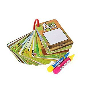 Lychee® 26 Alphabets Water Magic Word Cards Children Early Education Card Set Magic Water Scrawling Painting Pictures Educational Toys for Kids (26 pcs)